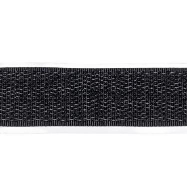 selbstklebendes Klettband, 20 mm, schw, Hakenseite