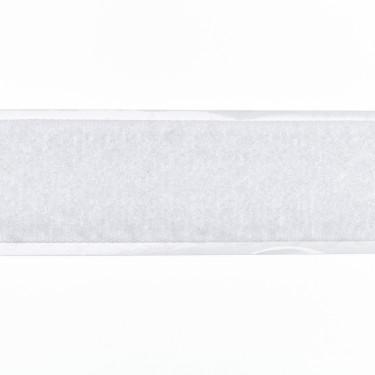 Selbstklebendes Klettband, 20 mm, weiß, Flauschseite
