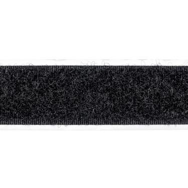 selbstklebendes Klettband, 20 mm, schw, Flauschseite