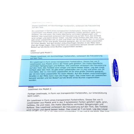 Leselineal hellblau Modell 2