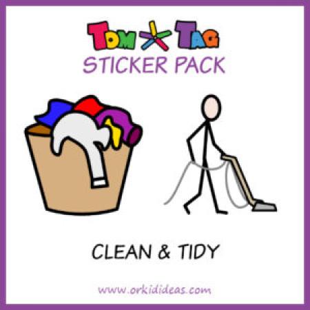 TomTag Aufkleber zum Putzen und Haushalten